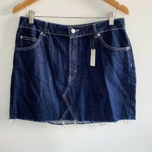 NEW Topshop Moto Women's Size 14 Denim Skirt Blue